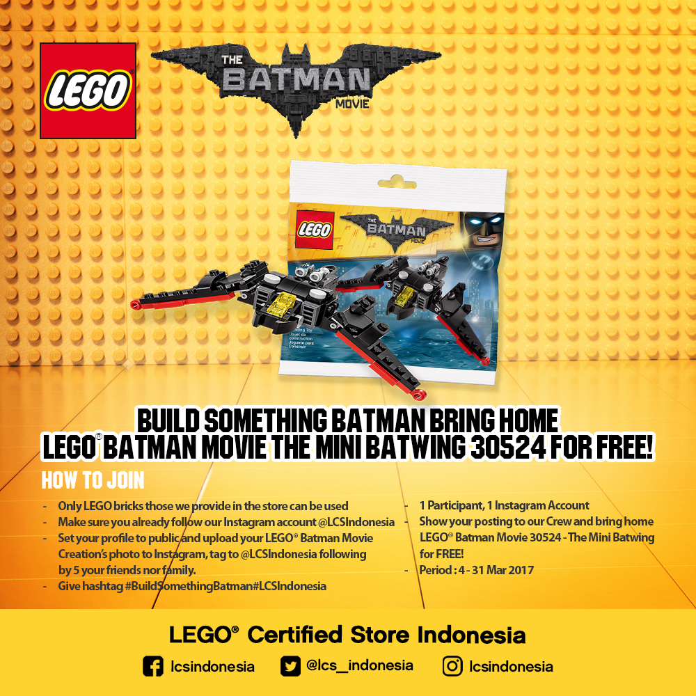 LCS - Whats On March Promo Build Something Batman